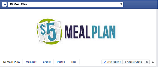 $5 Meal Plan Facebook Group