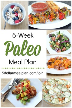 6-Week Paleo Menu Plan