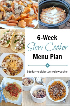 6-Week Slow Cooker Menu Plan